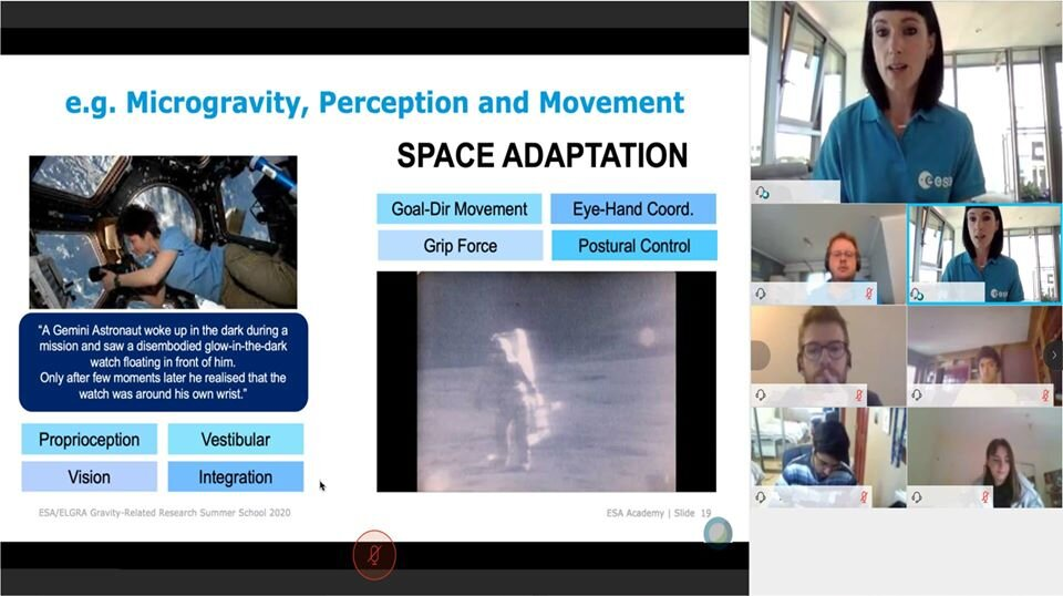 ELGRA expert presenting an overview of gravity-related research