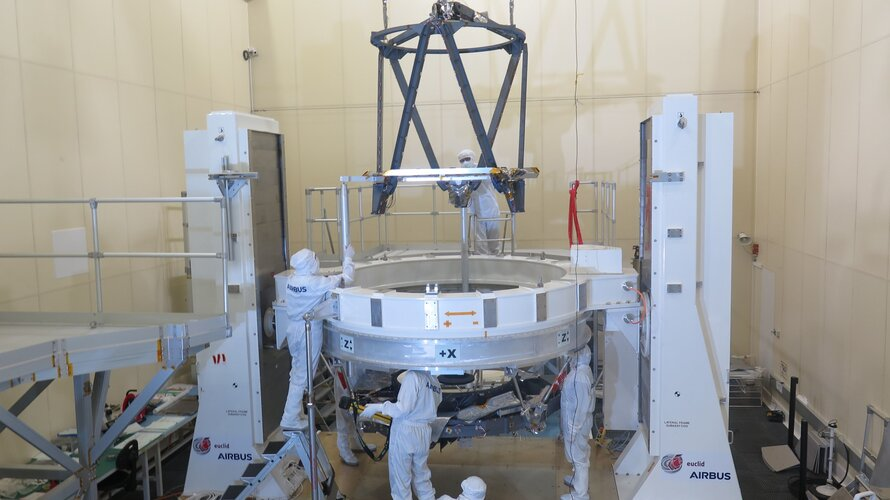 Integration of the Euclid telescope