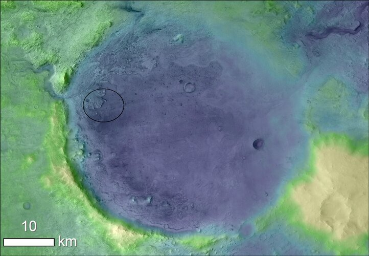 The ancient lakeshore of Jezero crater on Mars