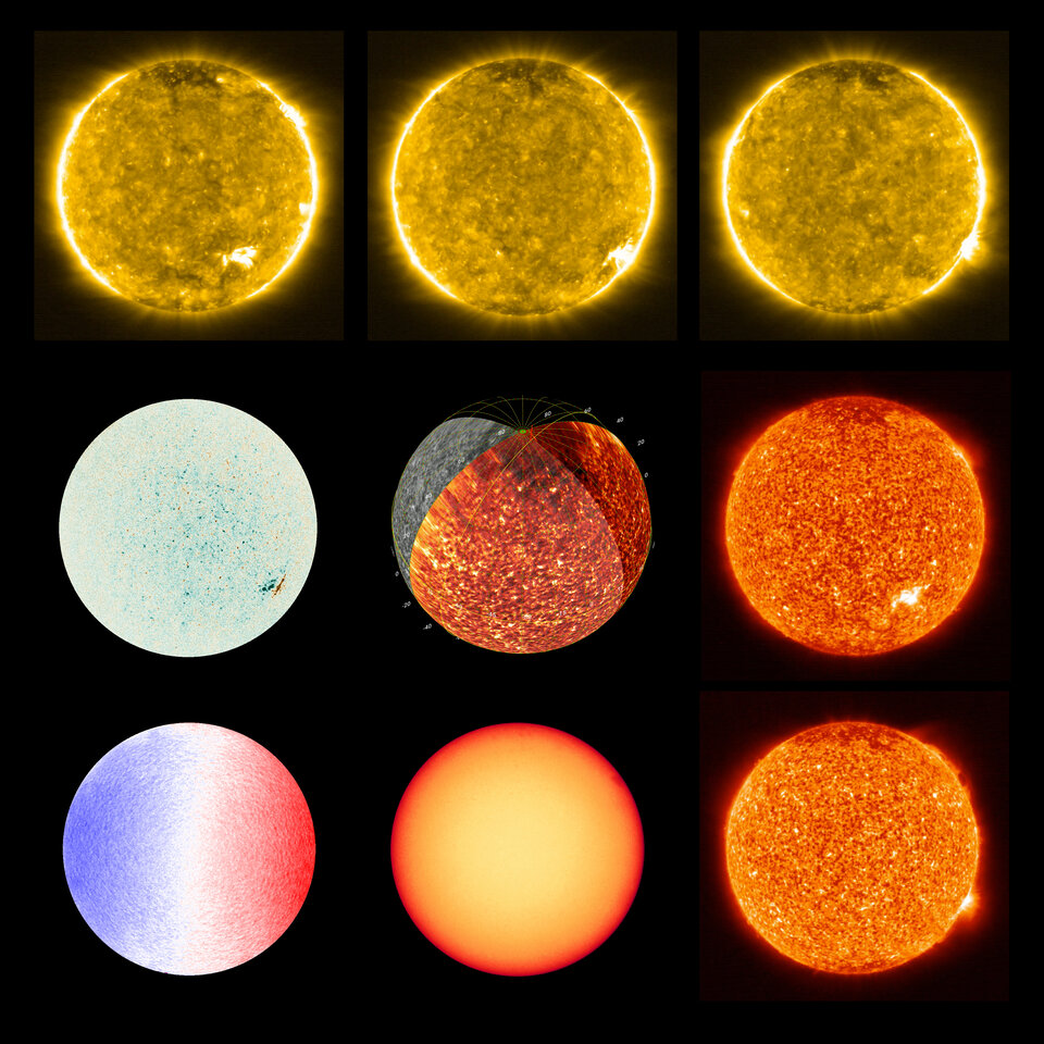 The many faces of the Sun from Solar Orbiter's EUI and PHI instruments