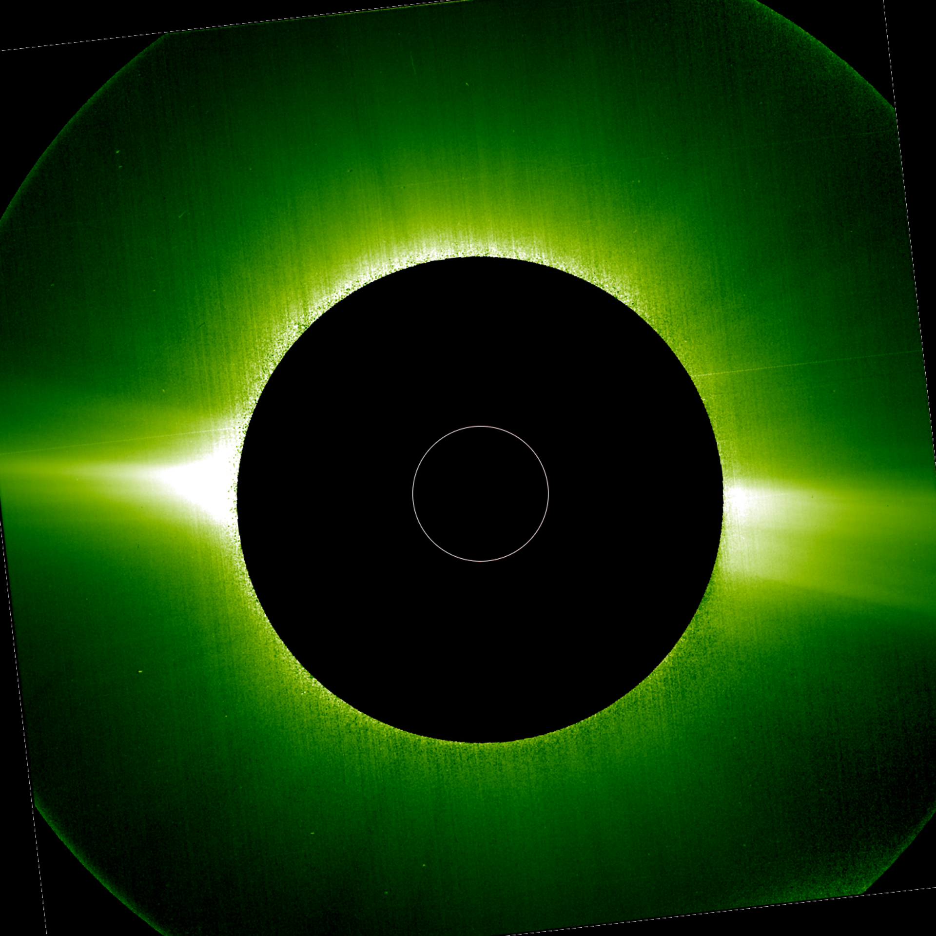 The Sun's corona in visible light on 15 May 2020