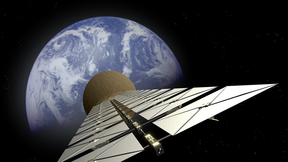 Artist's impression of a solar power satellite