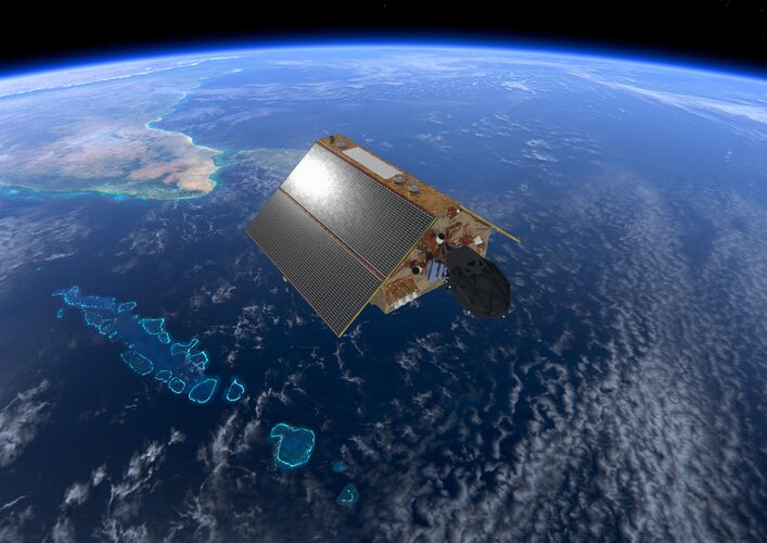 Copernicus Sentinel-6 over the Maldives