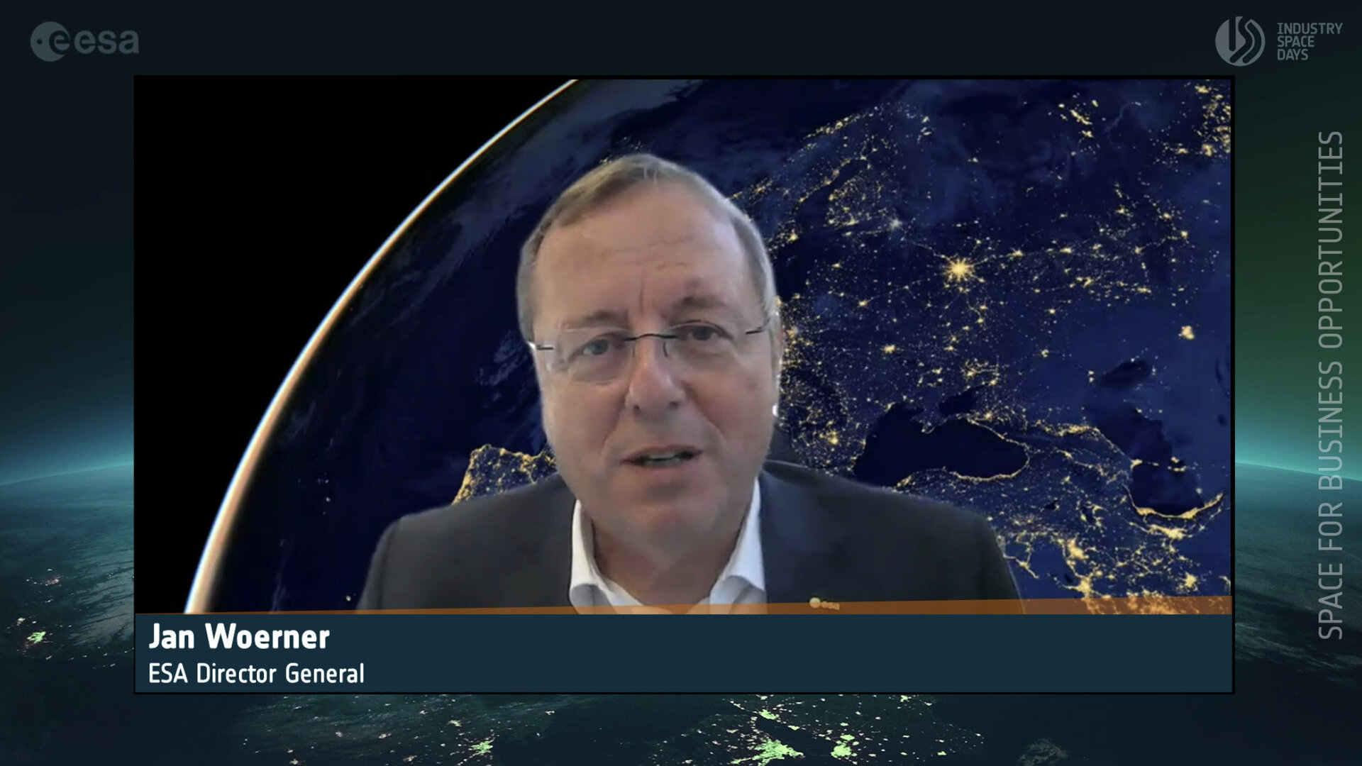 Jan Wörner, ESA Director General welcomed participants to the online Industry Space Days on 16–17 September 2020