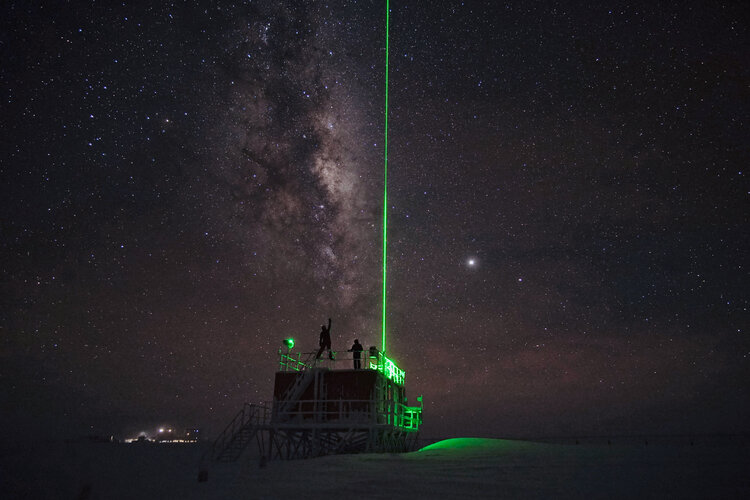 LIDAR-Experiment auf der Concordia-Station