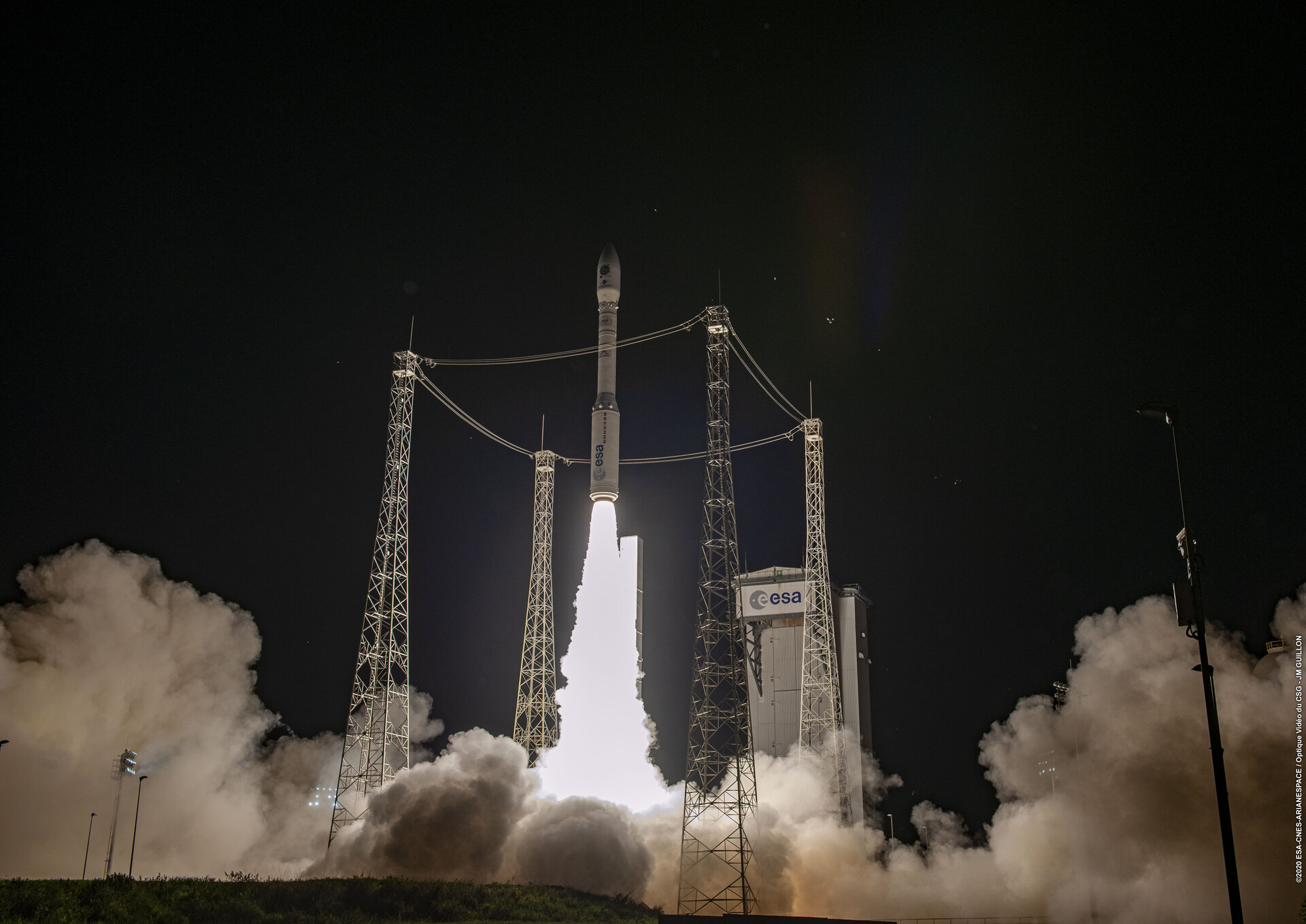 Vega lifts off on its first rideshare launch dedicated to light satellites using its new Small Spacecraft Mission Service dispenser.