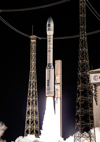 Vega debuts rideshare launch service with 53 satellites.