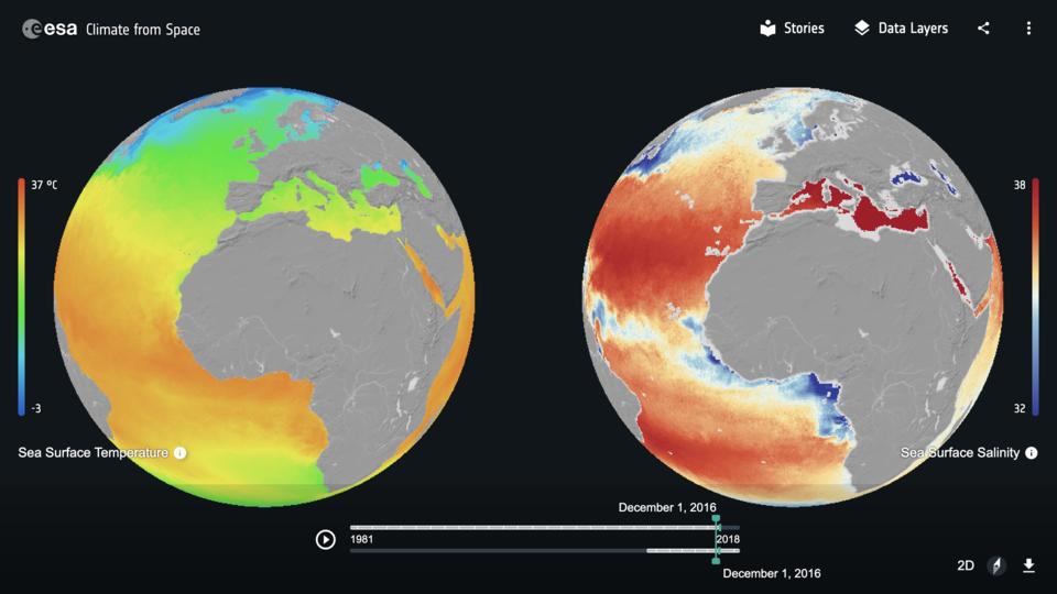 Clima dallo spazio: superficie del mare
