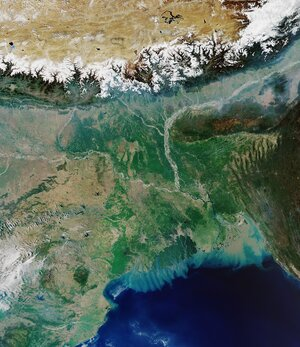The Copernicus Sentinel-3 mission takes us over the Ganges Delta – the world's largest river delta.