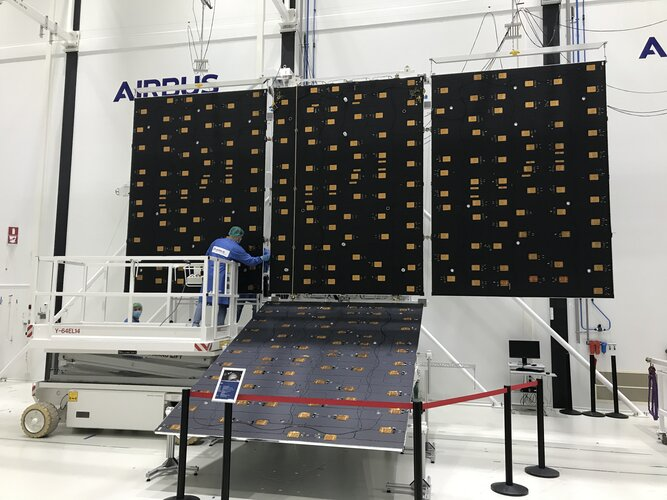 Juice solar panels ready to turn into wings
