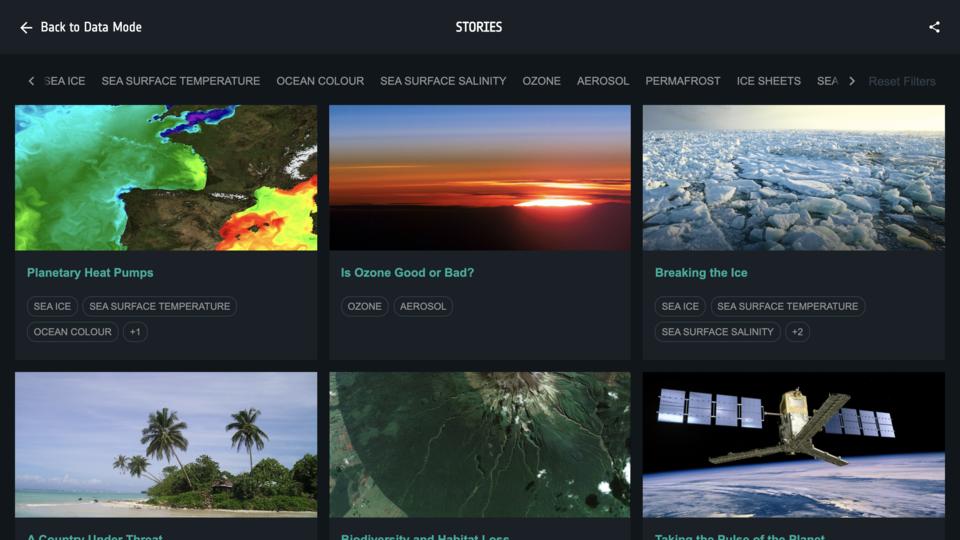 Ulteriori informazioni con Climate from Space