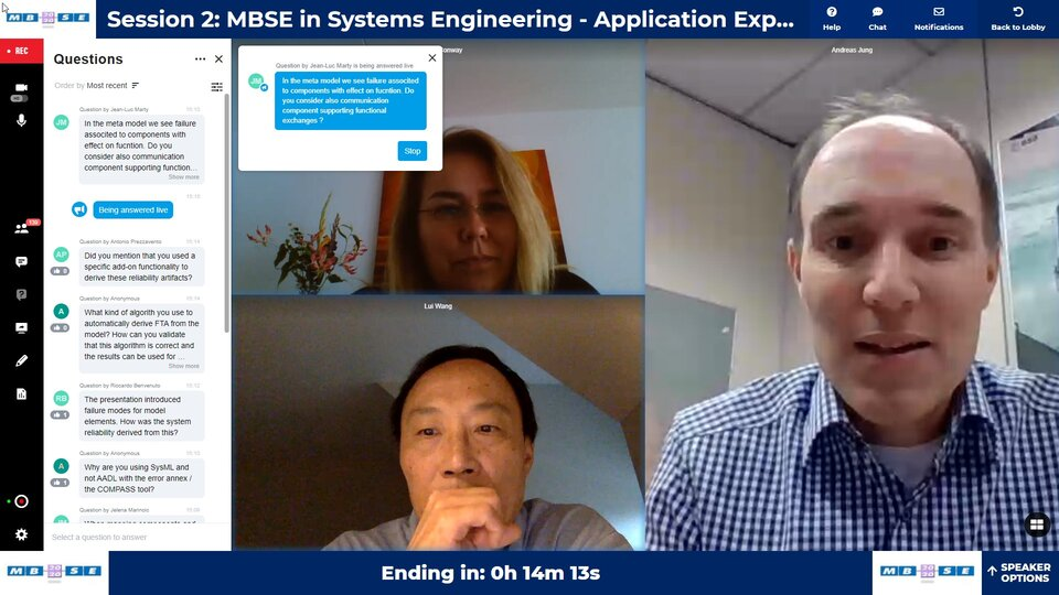 MBSE 2020 session