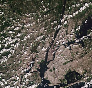 The Copernicus Sentinel-2 mission takes us over New York City – the most populous city in the United States.