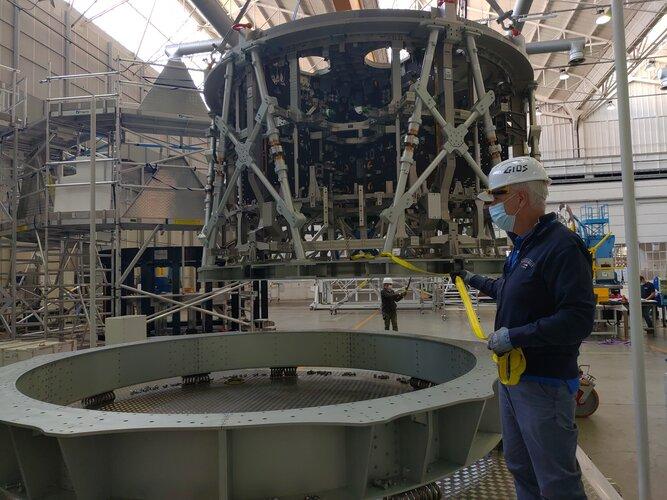 Orion's European Service Module-3 structure