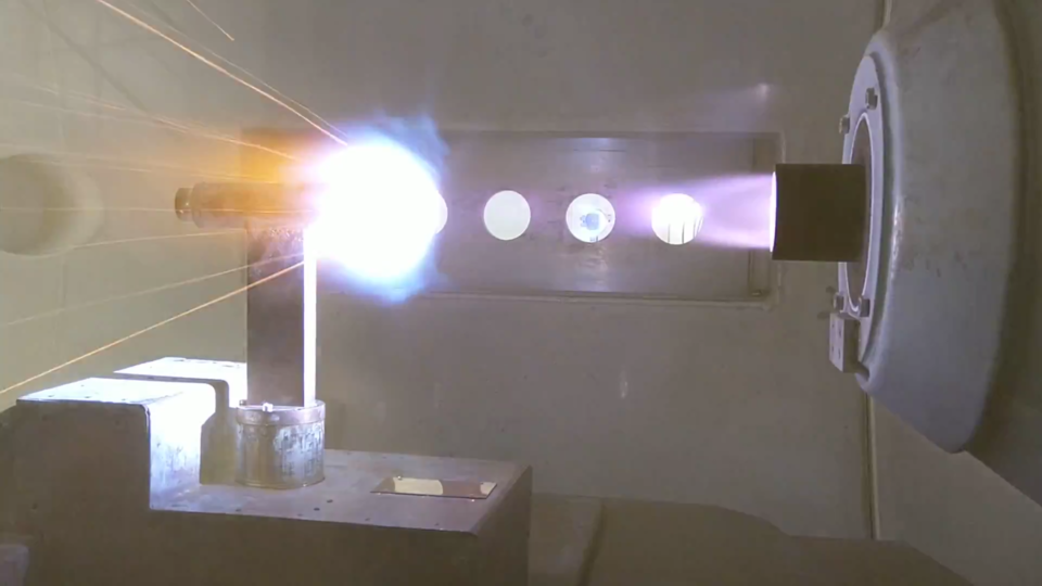 Plasma wind tunnel testing of flax composite panels