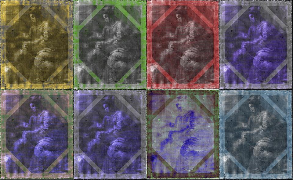 Le immagini a raggi X spettrali rivelano strati precedentemente nascosti del dipinto