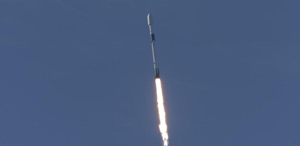 Un momento del lancio di Sentinel-6