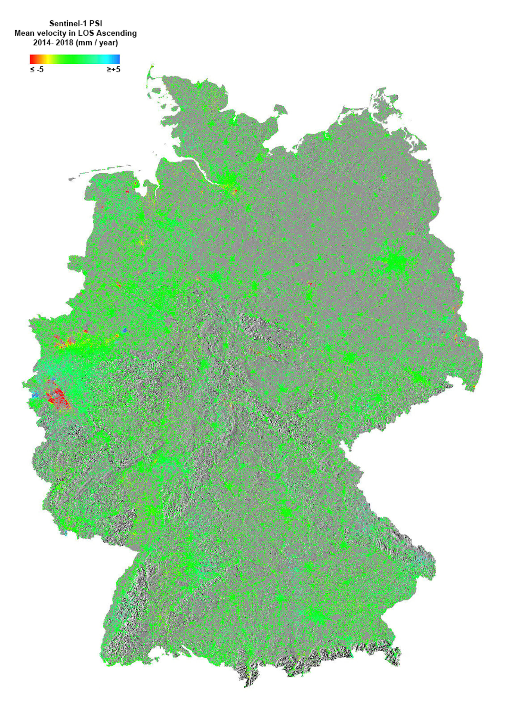 Surface deformation across Germany