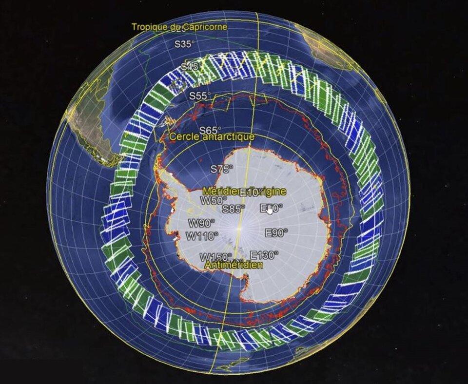 Area mapped by Copernicus Sentinel-1 for Vendée Globe Race