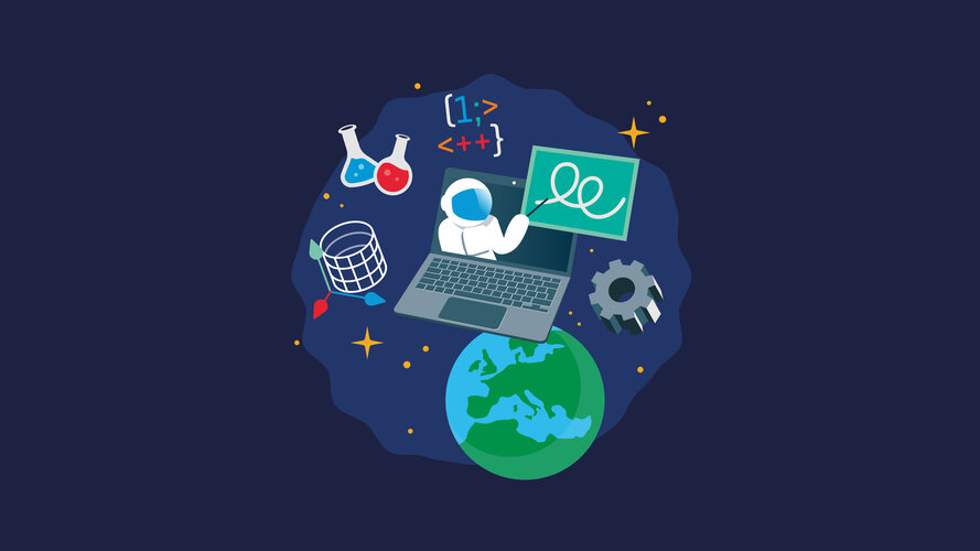 Apply now to the  ESA Teach with Space Online Conference