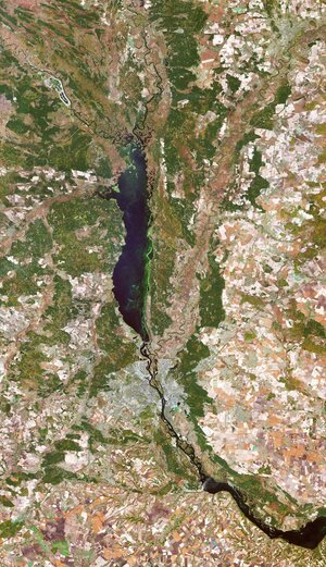 The Copernicus Sentinel-2 mission takes us over Kyiv – the capital and most populous city of Ukraine.