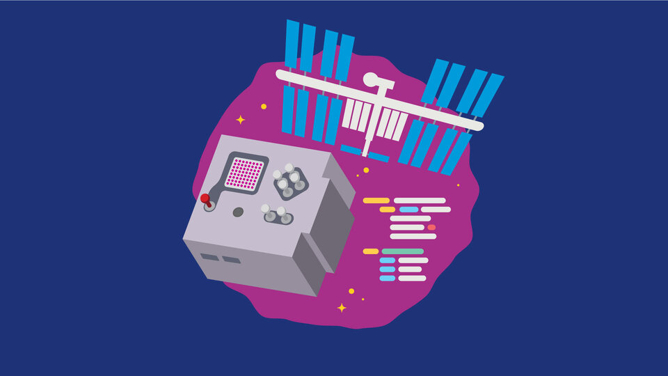 Run experiments on the ISS using Astro Pi key visual