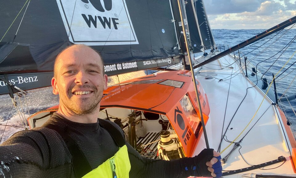 Skipper Kevin Escoffier