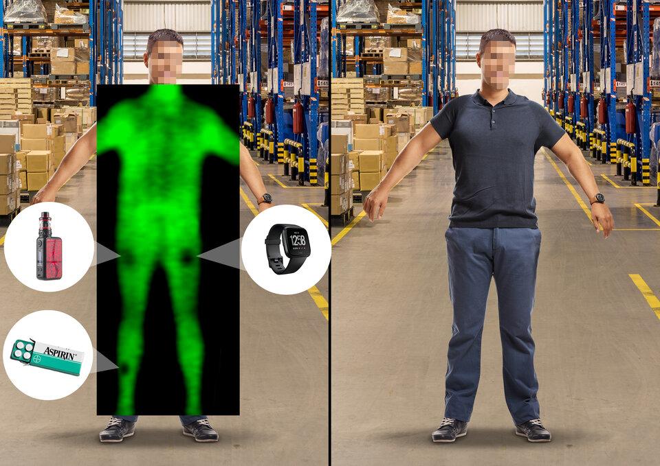 Imaging Terahertz per individuare oggetti nascosti sotto i vestiti