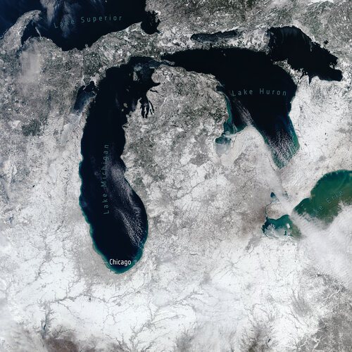Snow near Great Lakes