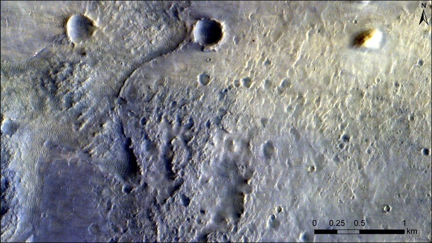 ExoMars orbiter images Perseverance landing site
