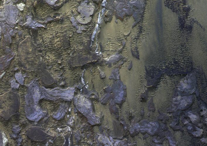 Inside a martian canyon
