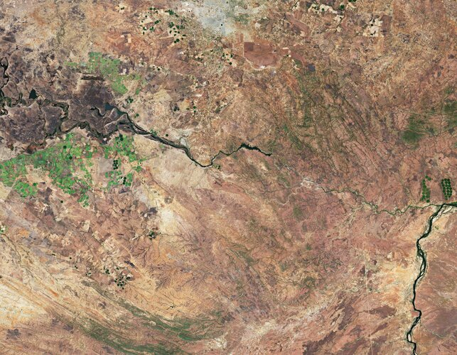 The Copernicus Sentinel-2 mission takes us over Lusaka – the capital and largest city of Zambia.