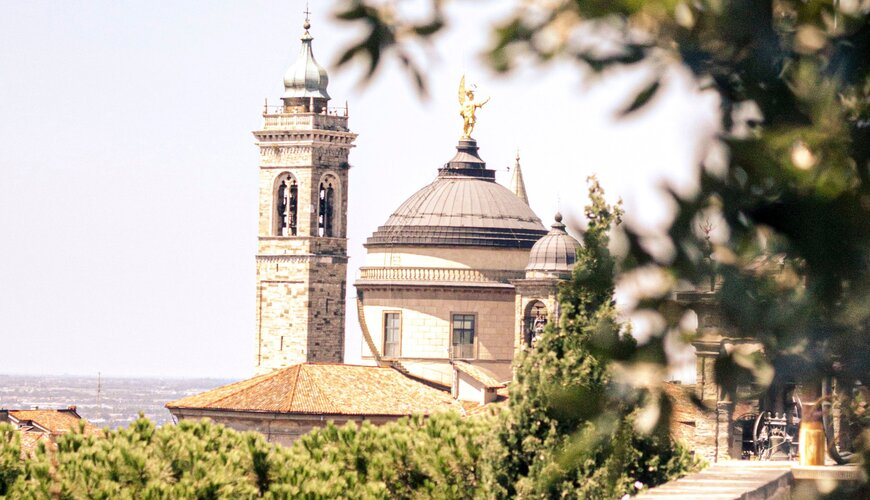 Bergamo in north Italy