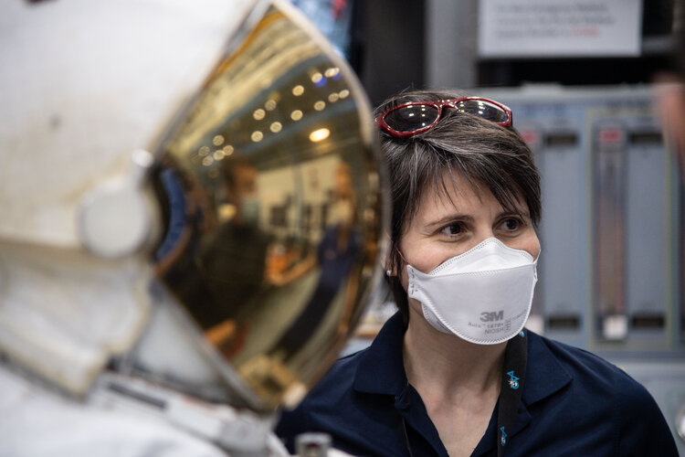 ESA astronaut Samantha Cristoforetti in training for her second space mission
