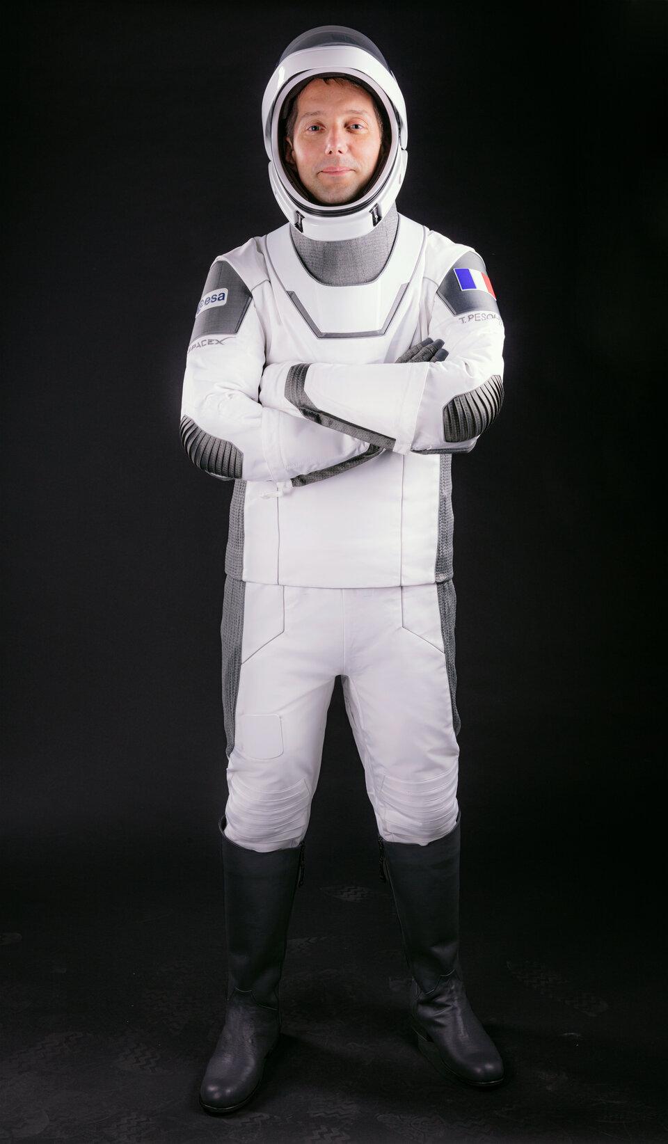 Thomas dans sa combinaison SpaceX