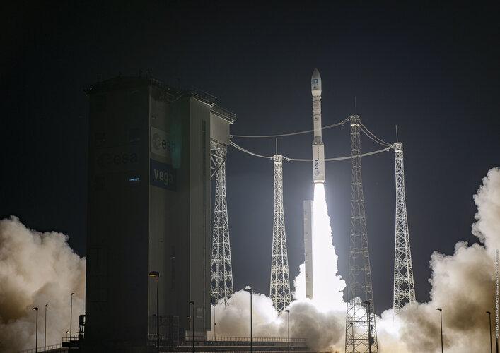 Vega liftoff on flight VV18