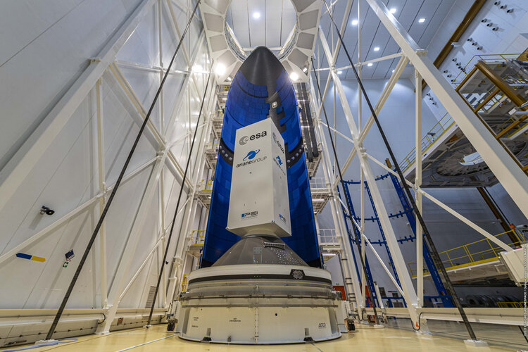 First Ariane 6 fairing at Europe's Spaceport