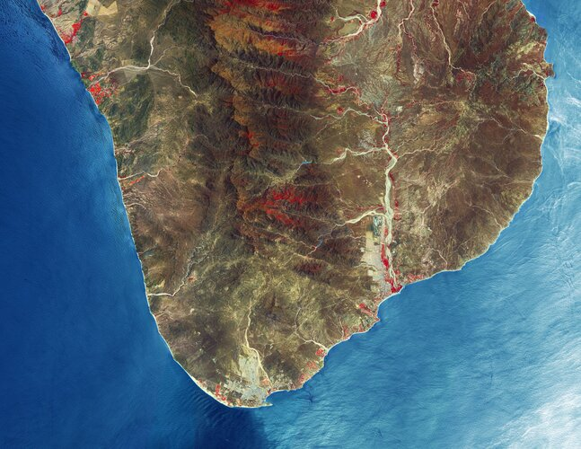 A Copernicus Sentinel-2 image of Los Cabos – a municipality on the southern tip of Mexico's Baja California Peninsula.