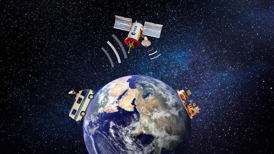 ESA und Playmobil erklären: Wie unterstützen uns Satelliten im Alltag?