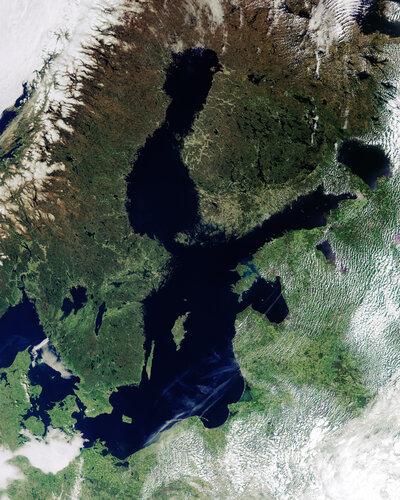 Baltic Sea from Copernicus Sentinel-3