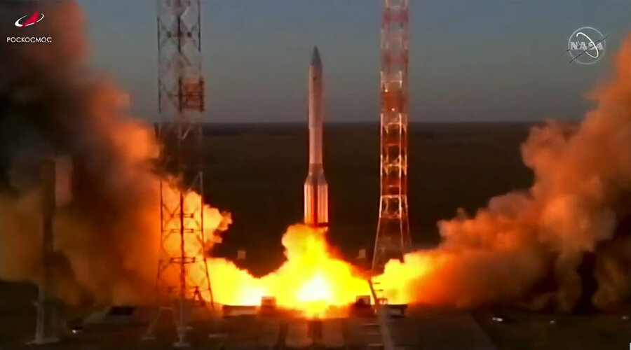 The European Robotic Arm is launched into space by Proton rocket