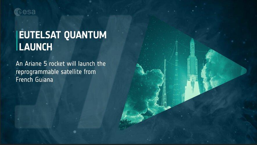 ESA Web TV image for the launch of Eutelsat Quantum