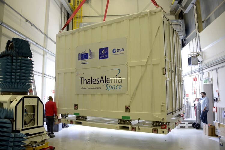 Galileo Payload Testbed arriving at ESTEC