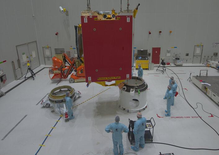 One of the last glimpses of the Eutelsat Quantum satellite