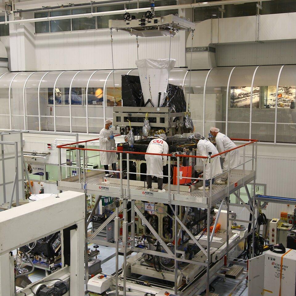 Accoppiamento finale dell'imager combinato flessibile con il satellite