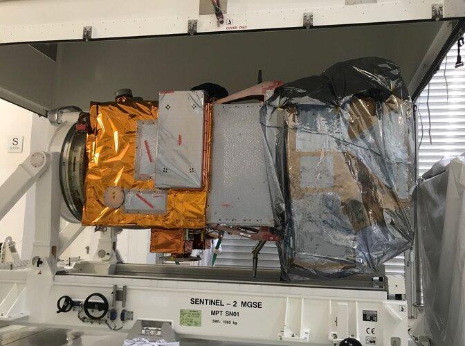 Sentinel-2C arrives at IABG for testing
