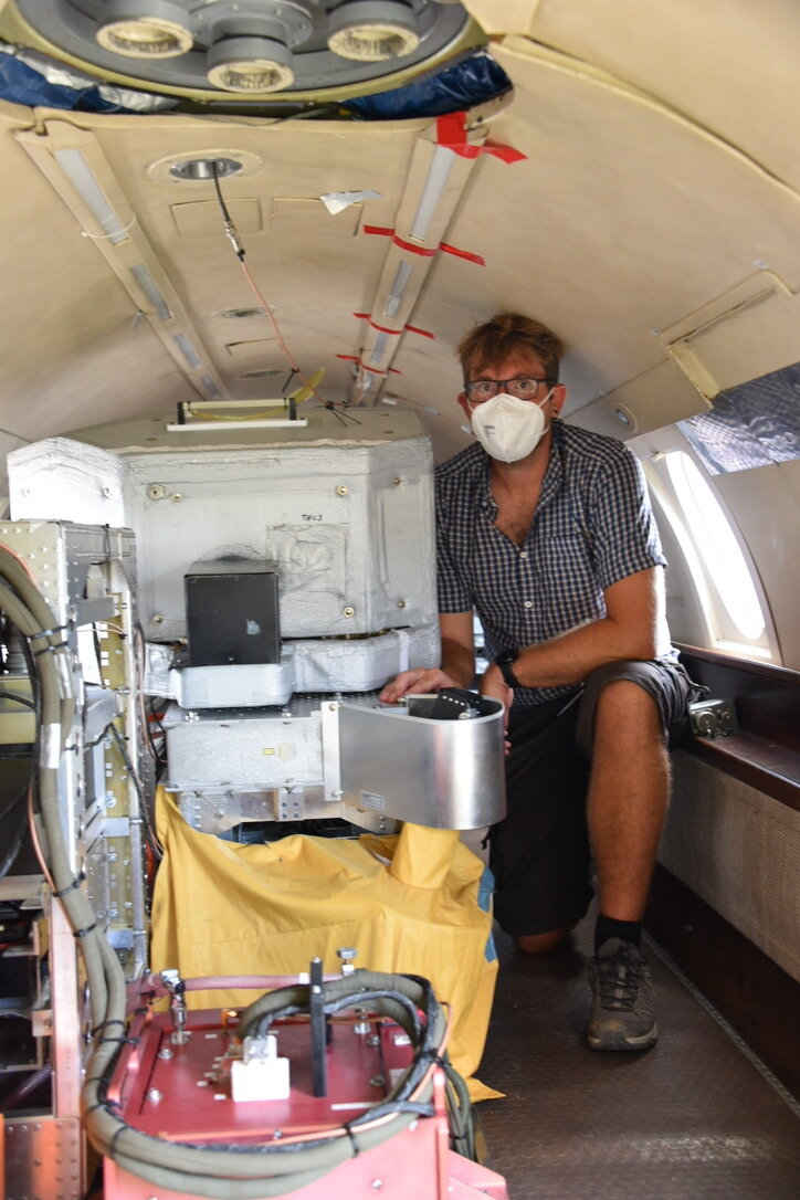 Inside one of the Aeolus campaign aircraft