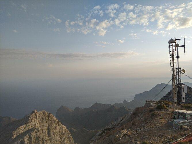 Satnav receivers atop Mallorca