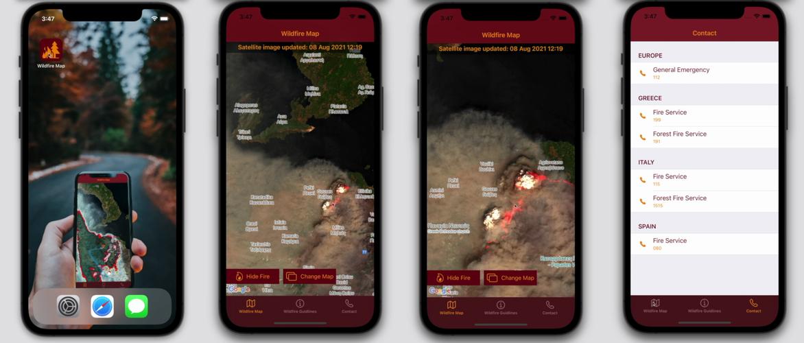 Wildfire Map app