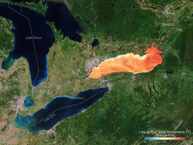 Lake Ontario temperature